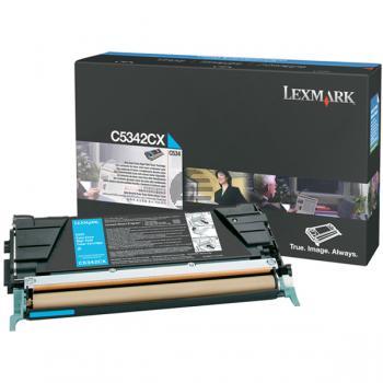 Lexmark Toner-Kartusche cyan HC plus (C5342CX)