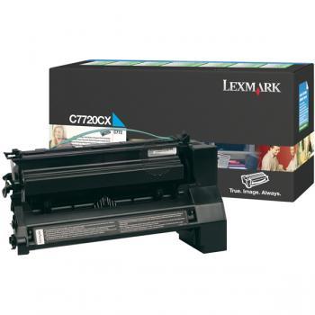 Lexmark Toner-Kartusche Prebate cyan HC plus (C7720CX)