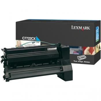 Lexmark Toner-Kartusche cyan HC plus (C7722CX)