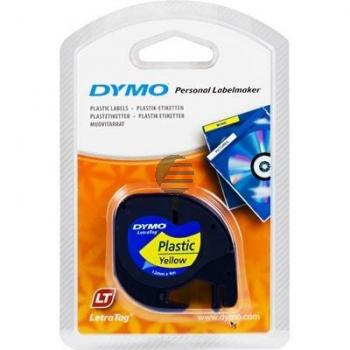 Dymo Schriftbandkassette schwarz/gelb (91222)