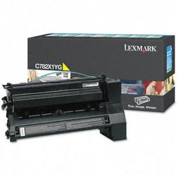 Lexmark Toner-Kartusche Prebate gelb HC plus (C782X1YG)