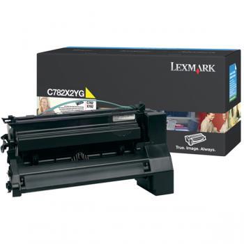 Lexmark Toner-Kartusche gelb HC plus (C782X2YG)