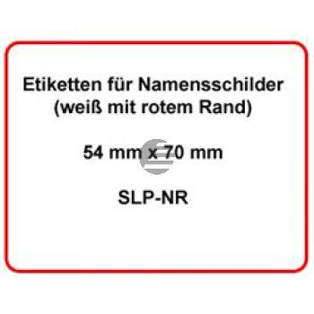 Seiko Namensschilder-Etiketten weiß/blau (SLP-NR)