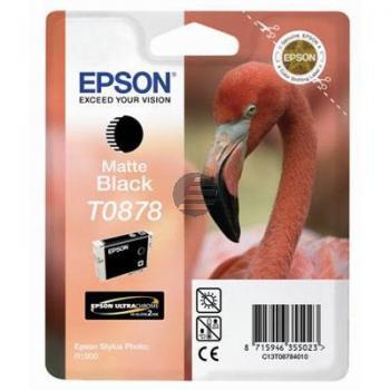 Epson Tintenpatrone schwarz matt (C13T08784010, T0878)