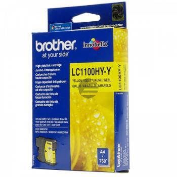 Brother Tintenpatrone gelb HC (LC-1100HYY)