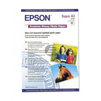 Epson Premium Glossy Photo Paper DIN A3+ weiß 20 Seiten (C13S041316)