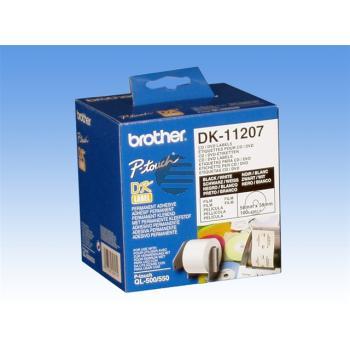 Brother CD-/DVD -Etiketten (weiß) weiß (DK11207)