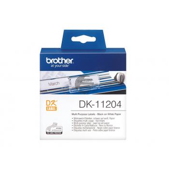 Brother Mehrzwecketiketten weiß (DK11204)