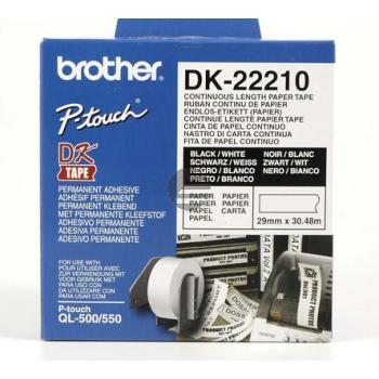 Brother Endlos-Etikett weiß (DK22210)
