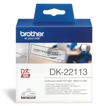 Brother Endlos-Etikett transparent (DK22113)