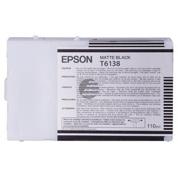 Epson Tintenpatrone schwarz matt (C13T613800, T6138)