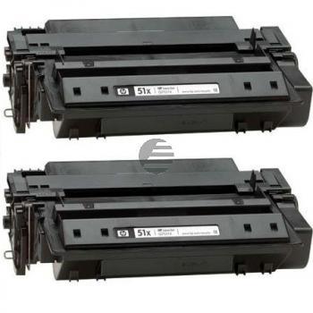 HP Toner-Kartusche 2 x schwarz HC (Q7551XD, 51XD)