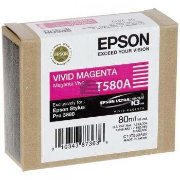 Epson Tintenpatrone magenta (C13T580A00, T580A)