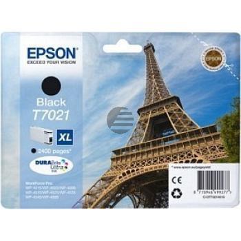 Epson Tintenpatrone schwarz HC (C13T70214010, T7021)