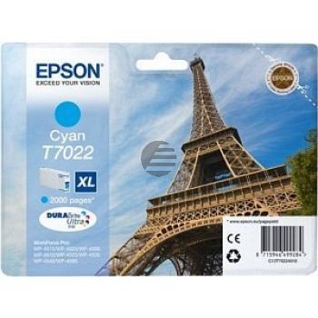 Epson Tintenpatrone cyan HC (C13T70224010, T7022)