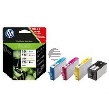 HP Tintenpatrone gelb, cyan, magenta, schwarz HC (C2N92AE, 920XL)