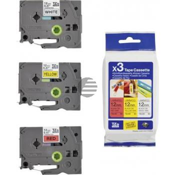 Brother Schriftbandkassette 12mm (Set) (TZE-31M3)
