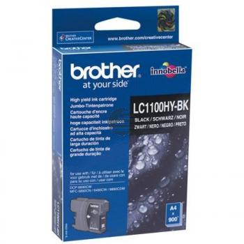Brother Tintenpatrone 2 x schwarz HC (LC-1100HYBKBP2DR)