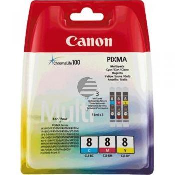 Canon Tintenpatrone gelb, cyan, magenta (0621B029, CLI-8C, CLI-8M, CLI-8Y)