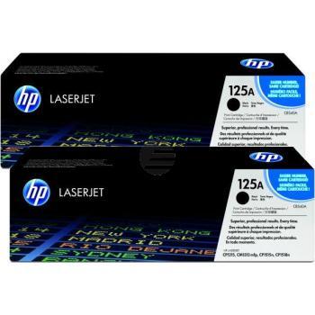 HP Toner-Kartusche 2 x schwarz (CB540AD, 125AD)