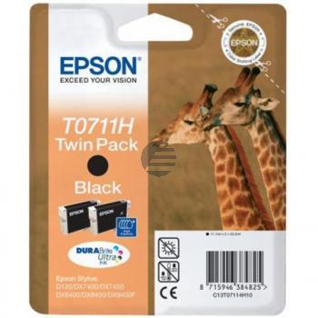 Epson Tintenpatrone 2 x schwarz (C13T07114H20, T0711H)