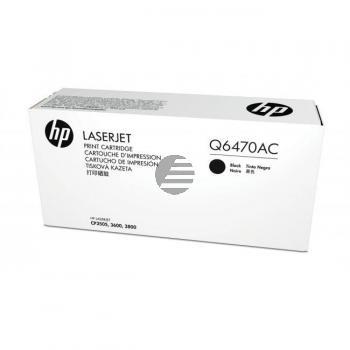 HP Toner-Kartusche Contract schwarz (Q6470AC, 501AC)