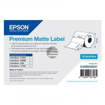 Epson Premium matte Etiketten, gestanzt weiß (C33S045531)
