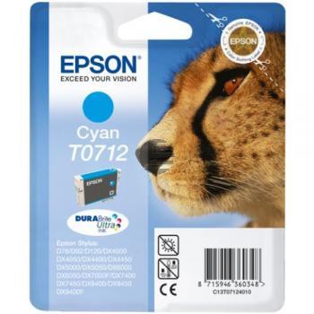 Epson Tintenpatrone cyan HC (C13T07124011, T0712)
