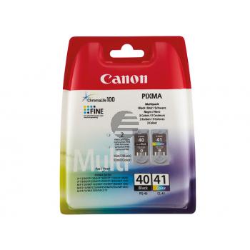 Canon Tintendruckkopf cyan/gelb/magenta, schwarz (0615B051, CL-41, PG-40)