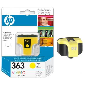 HP Tintenpatrone gelb (C8773EE#BA1, 363)