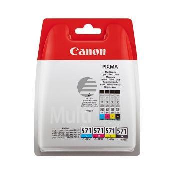 Canon Tintenpatrone gelb, cyan, magenta, schwarz (0386C005, CLI-571PA)
