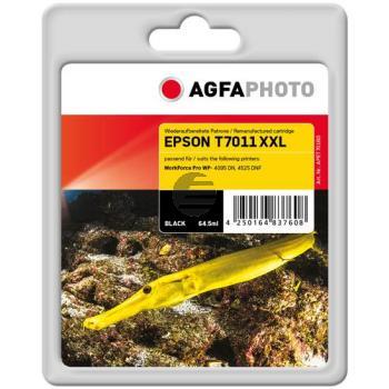 Agfaphoto Tintenpatrone schwarz HC plus (APET701BD) ersetzt T7011