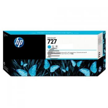 HP Tintenpatrone cyan HC plus (F9J76A, 727)