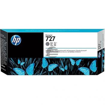 HP Tintenpatrone grau HC plus (F9J80A, 727)