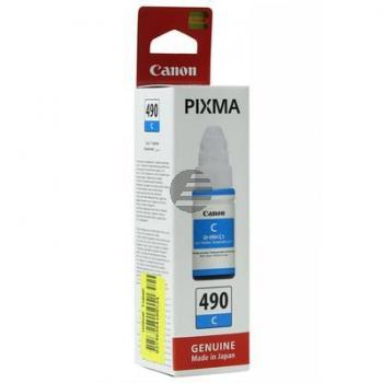 Canon Tintennachfüllfläschchen cyan SC (0664C001, GI-490C)