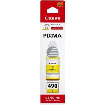 Canon Tintennachfüllfläschchen gelb SC (0666C001, GI-490Y)