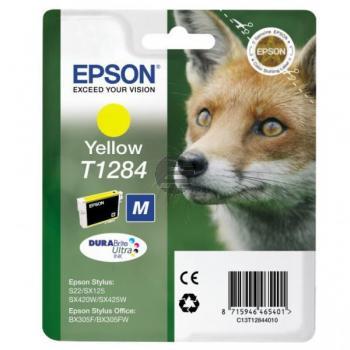 Epson Tintenpatrone gelb (C13T12844012, T1284)