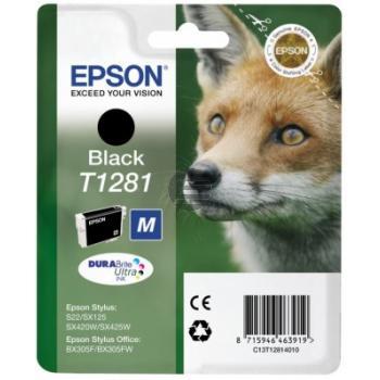 Epson Tintenpatrone schwarz (C13T12814012, T1281)