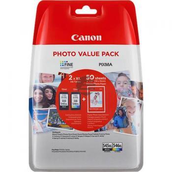 Canon Tintenpatrone cyan/gelb/magenta, schwarz HC (8286B006, CL-546XL, PG-545XL)