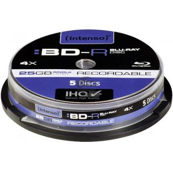 INTENSO BD-R 25GB 4x (5) CB 5001111 Cake Box