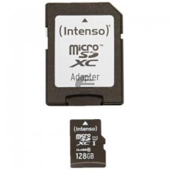 INTENSO MICRO SDXC KARTE UHSI 128GB 3423491 Klasse 10 mit Adapter