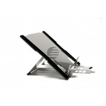 BNEFT270 BAKKER NOTEBOOKSTAENDER Flex Top 270 lichtgrau Kunststoff