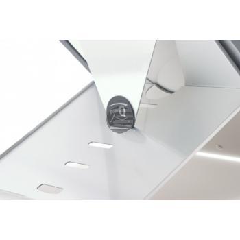 BNEQ220 BAKKER NOTEBOOKSTAENDER Ergo Q220 silber Aluminium