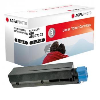 Agfaphoto Toner-Kit schwarz (APTO45807102E) ersetzt 45807102