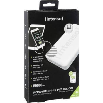 INTENSO POWERBANK HC15000 SCHWARZ 7332540 15.000mAh USB 3.0 Typ C