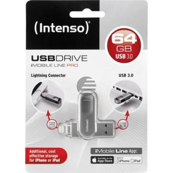 INTENSO IMOBILE LINE PRO USB STICK 64GB 3535590 USB 3.0 Superspeed FAT32