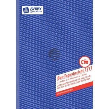 AZ Bau-Tagesbericht A4 SD 3 x 40 Blatt Avery Zweckform