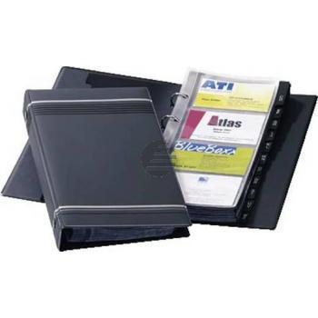 Durable Visitenkarten-Ringbuch Visifix Anthrazit 145 x 255 mm 200 Stück