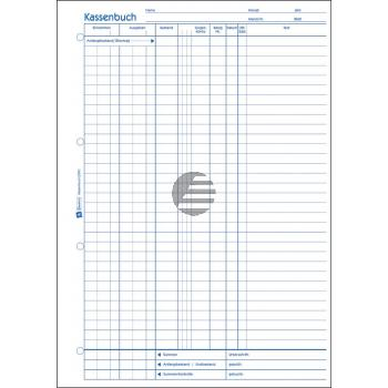 AZ EDV-Kassenbuch 1756 A4 hoch weiß/gelb Inh. 2 x 40 Blatt Avery Zweckform