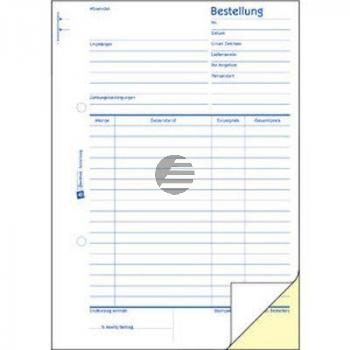 AZ Bestellung A5 Hoch weiß/gelb Inh.2 x 50 Blatt Avery Zweckform